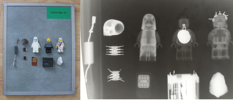 Фигурки Лего на рентгене