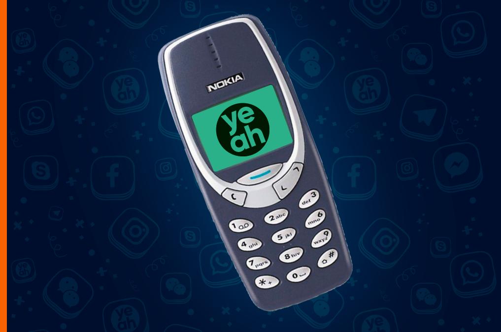 Старая Нокиа с логотипом Еадеска на обложке обновления мобильной версии